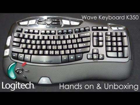 Logitech WAVE Wireless (K350) Keyboard - Hands On Review, Unboxing & Customization - Cursed4Eva