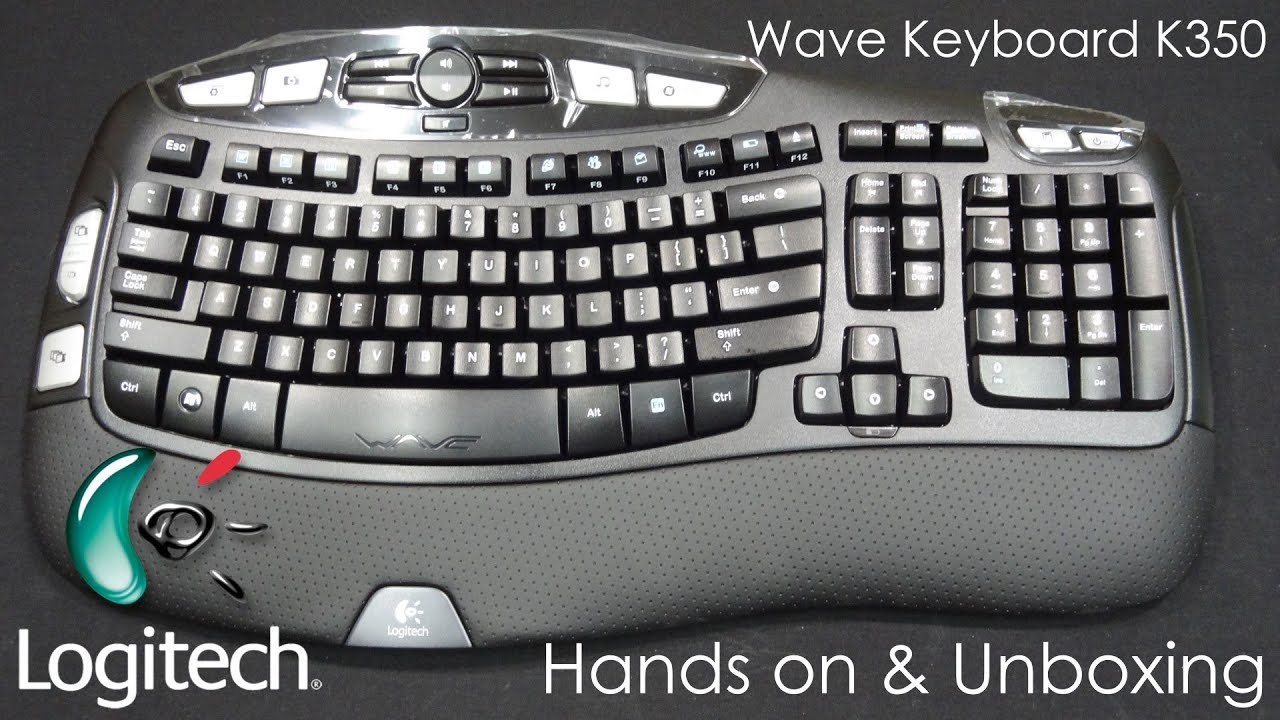 751c016942b Logitech WAVE Wireless (K350) Keyboard - Hands On Review, Unboxing &  Customization - Cursed4Eva