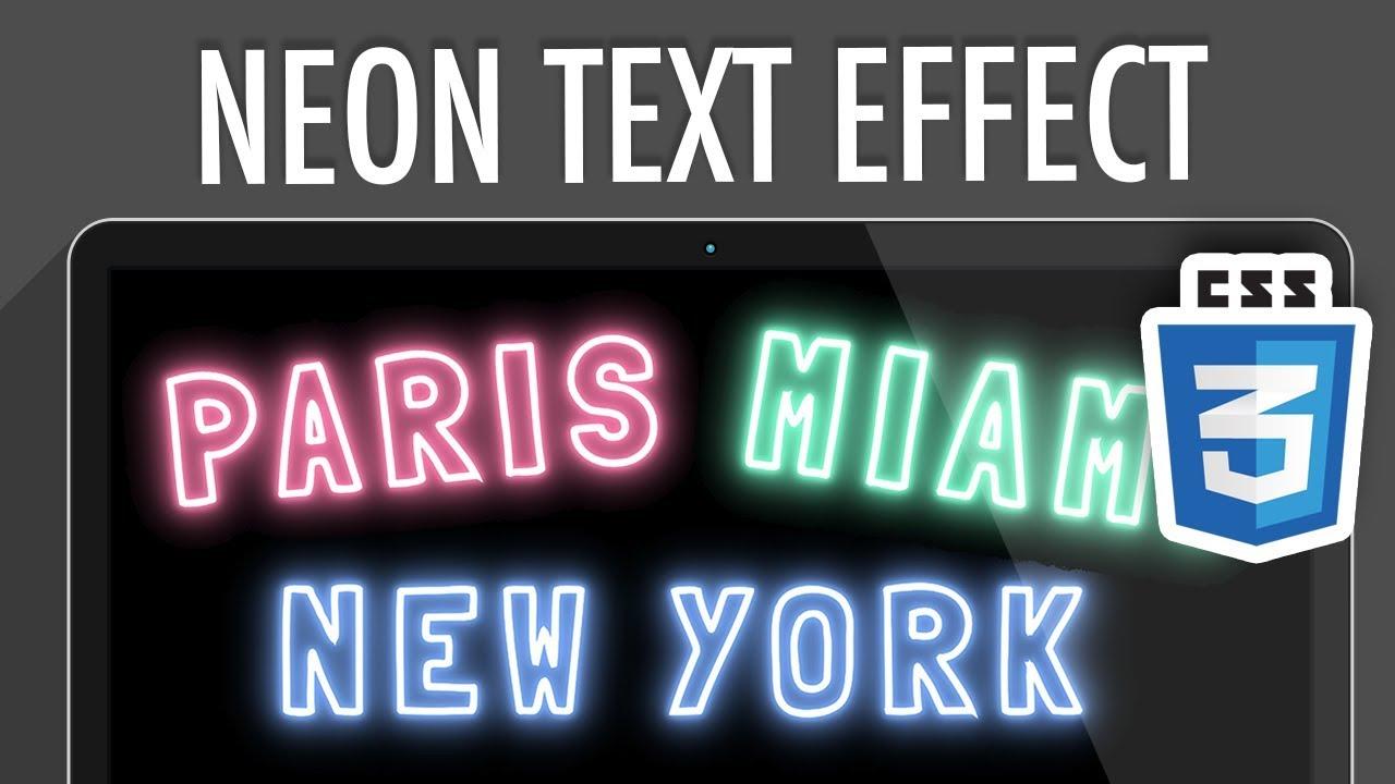 Neon Light Text Effect CSS3 » XO PIXEL