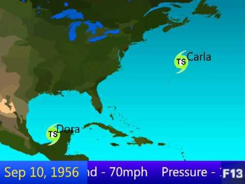 1956 Atlantic Hurricane Season Animation