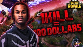 1 KILL = $100 FOR MY LITTLE BROTHER Pt2 (Fortnite Battle Royal)
