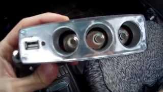 Обзор на Тройник для авто прикуривателя 12-24V