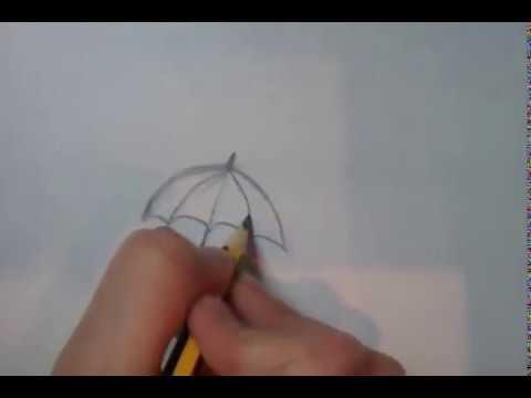 как нарисовать прикольный зонт?