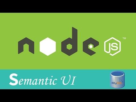 Crud con Node JS, Express JS, MySQL y Semantic UI (2/8)