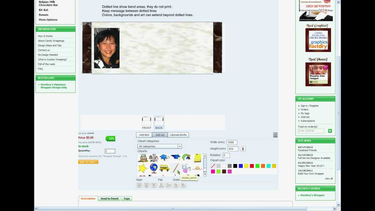 Design Your Candy Wrapper Online Youtube