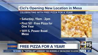 Get free pizza for a year at Cici