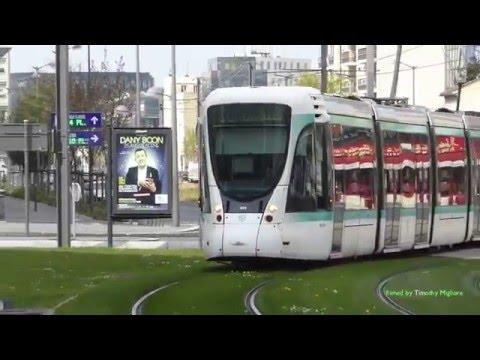 ligne 2 du tramway d 39 le de france the t2 tram in paris france 2016 youtube. Black Bedroom Furniture Sets. Home Design Ideas