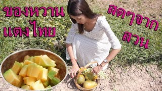 ทำของหวานแตงไทยหอมมาก