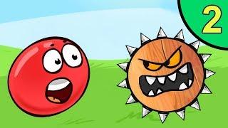 Несносный КРАСНЫЙ ШАР против монстров #2. Зелёные джунгли 2. Мультик ИГРА Red Ball на Игрули TV