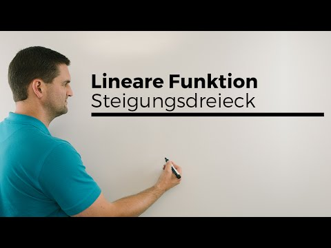 Lineare Funktion, Steigungsdreieck Teil 1 | Mathe By Daniel Jung