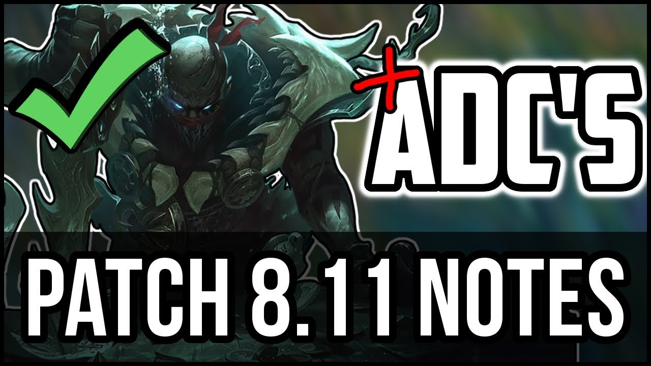 HUGE ADC NERFS! - Patch 8 11 - The Fall of ADC's HUGE Early Game Marksman  Nerfs - League of Legends