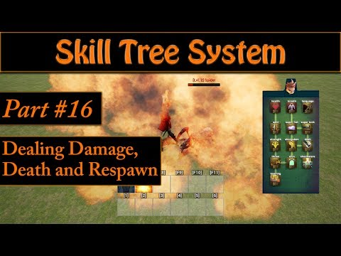 [Eng] Ability/Skill Tree System: Dealing Damage, Death and Respawn #16