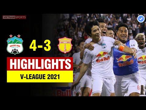 Highlights HAGL vs Nam Định   Bản lĩnh Công Phượng giúp HAGL thắng phút cuối trong trận cầu 7 bàn