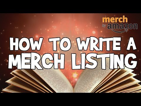 Merch by Amazon Listing Guide ✏️ Keywords & SEO Tutorial - How To Write Your Listing