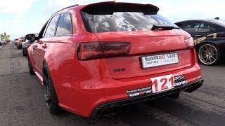 700HP Audi RS6 C7 Avant w/ Akrapovic Exhaust - REVS & DRAG RACING! thumbnail