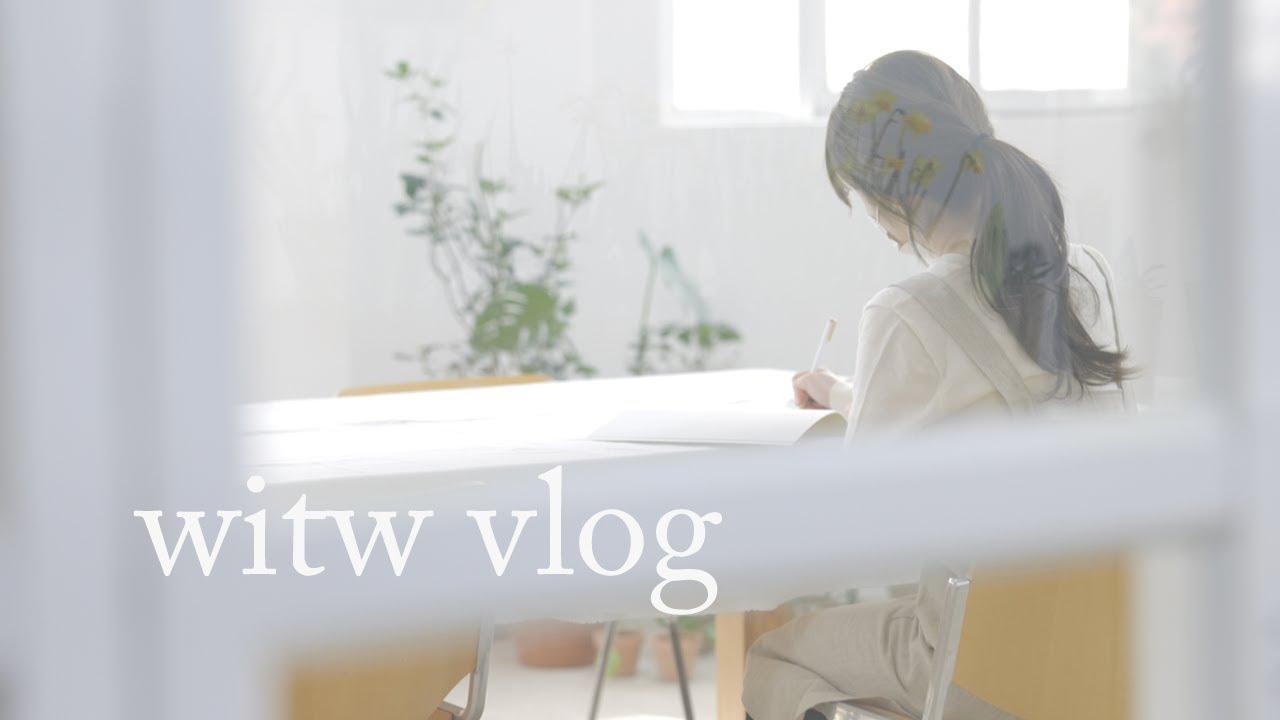 Vlog 일상 브이로그 urbanic30,arket 쇼핑 / 플로리스트 일상, 꽃 정기배송 서비스 영상 촬영 후기