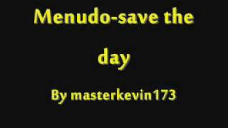 Watch Menudo Save The Day video