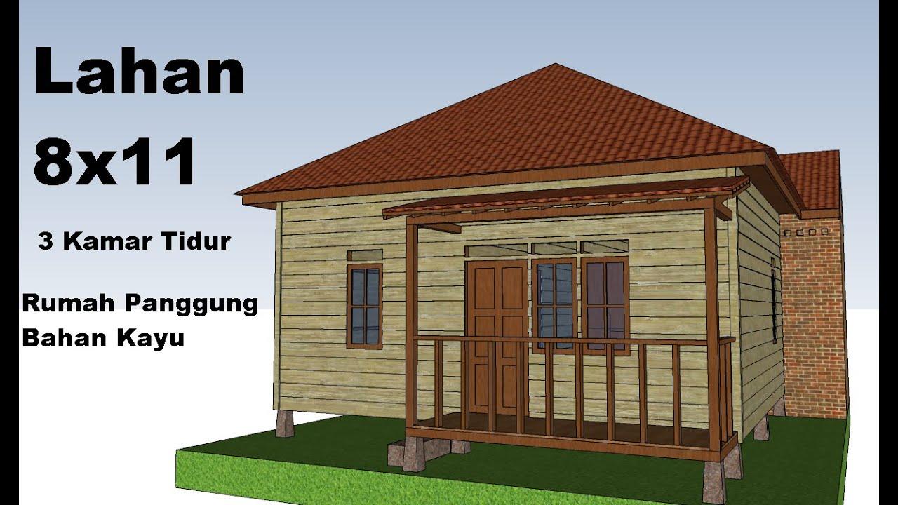Rumah Panggung Sederhana Dari Bahan Kayu Youtube Desain rumah panggung sederhana