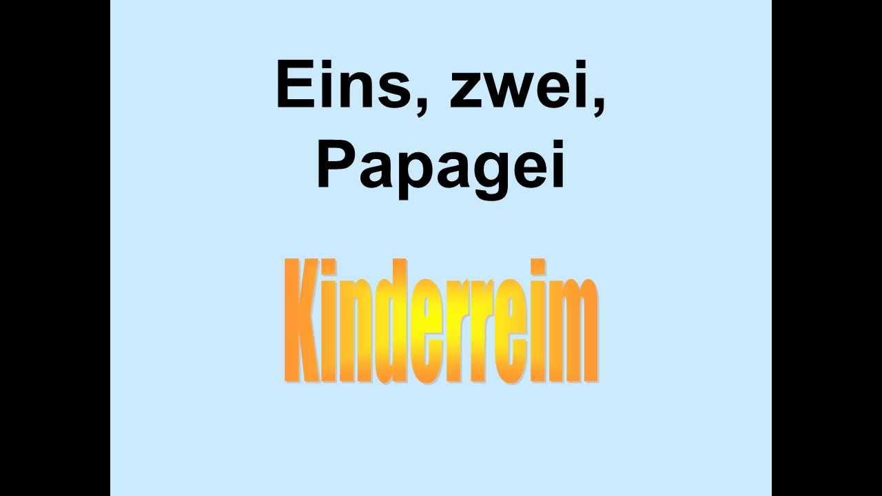 Eins, zwei, Polizei, drei, vier, Offizier   German Children's ...