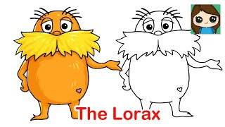 How to Draw The Lorax Easy | Dr. Seuss
