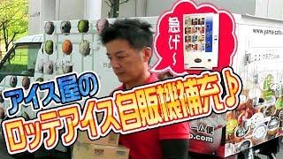 アイス屋の仕事動画 アイス屋のロッテアイス自販機補充風景♪ Icecream Vending Machine  動画サムネイル