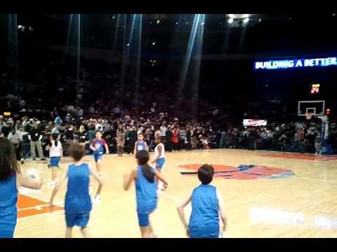 Chinatown YMCA Jr. Knicks Kids at Mason Square Garden.