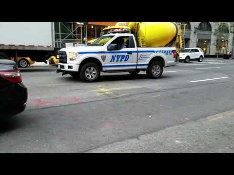 NYPD Traffic Enforcement Bronx Tow Using Rumblers To Clear Through Traffic