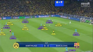 A tactical analysis (4-2-3-1 v 4-3-3) of Lucien Favre's Borussia Dortmund v Barcelona.