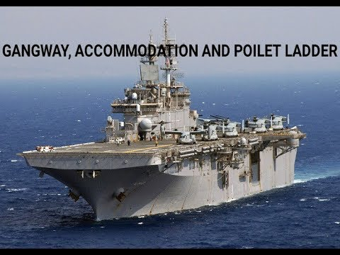 Marchant navy -ll GANGWAY,ACCOMMODATION AND POILET LADDER