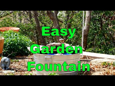 How To Build An Easy Water Fountain Youtube
