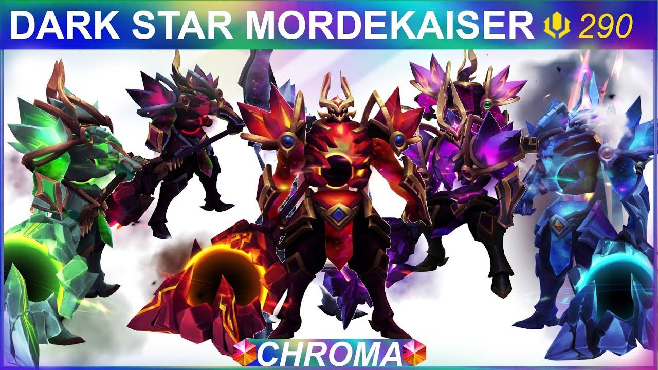 Dark Star Mordekaiser Chroma Skins Preview   SKingdom - League of Legends