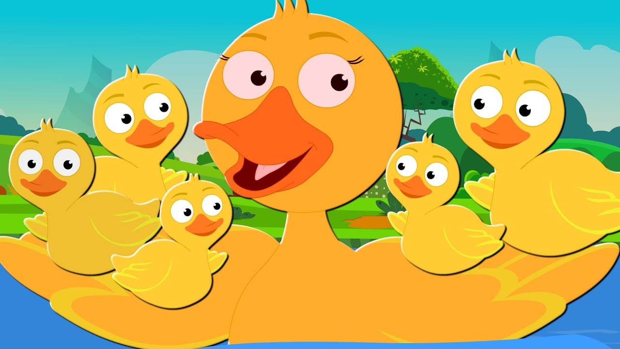 Five Little Ducks Nursery Rhymes And Kids Song For