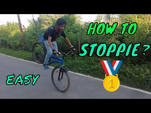 HOW TO DO STOPPIE ON CYCLE || BEGINNERS CYCLE STUNTS |  STEP BY STEP #INSPIREDBYFATBIKERVAIBHAV