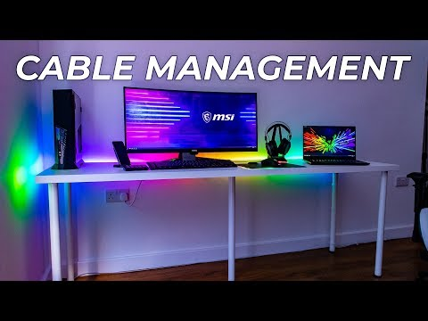 The BEST way to cable manage your Gaming Setup?