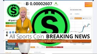 Cryptocurrency All Sports Coin $SOC Appreciates 38% During the Last 24 Hours