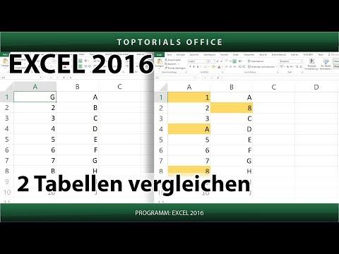 2 Tabellen vergleichen (Excel)