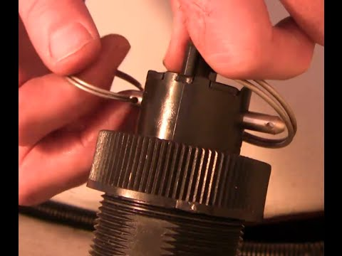 How to remove a padddlewheel speed sensor on a boat