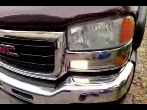 How To Change Day Time Running Light Bulb Silverado Sierra Tahoe Yukon Suburban 99 06 Youtube