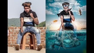 Photoshop manipulation tutorial// how to Make  3D poster Easy // By Sony Jackson
