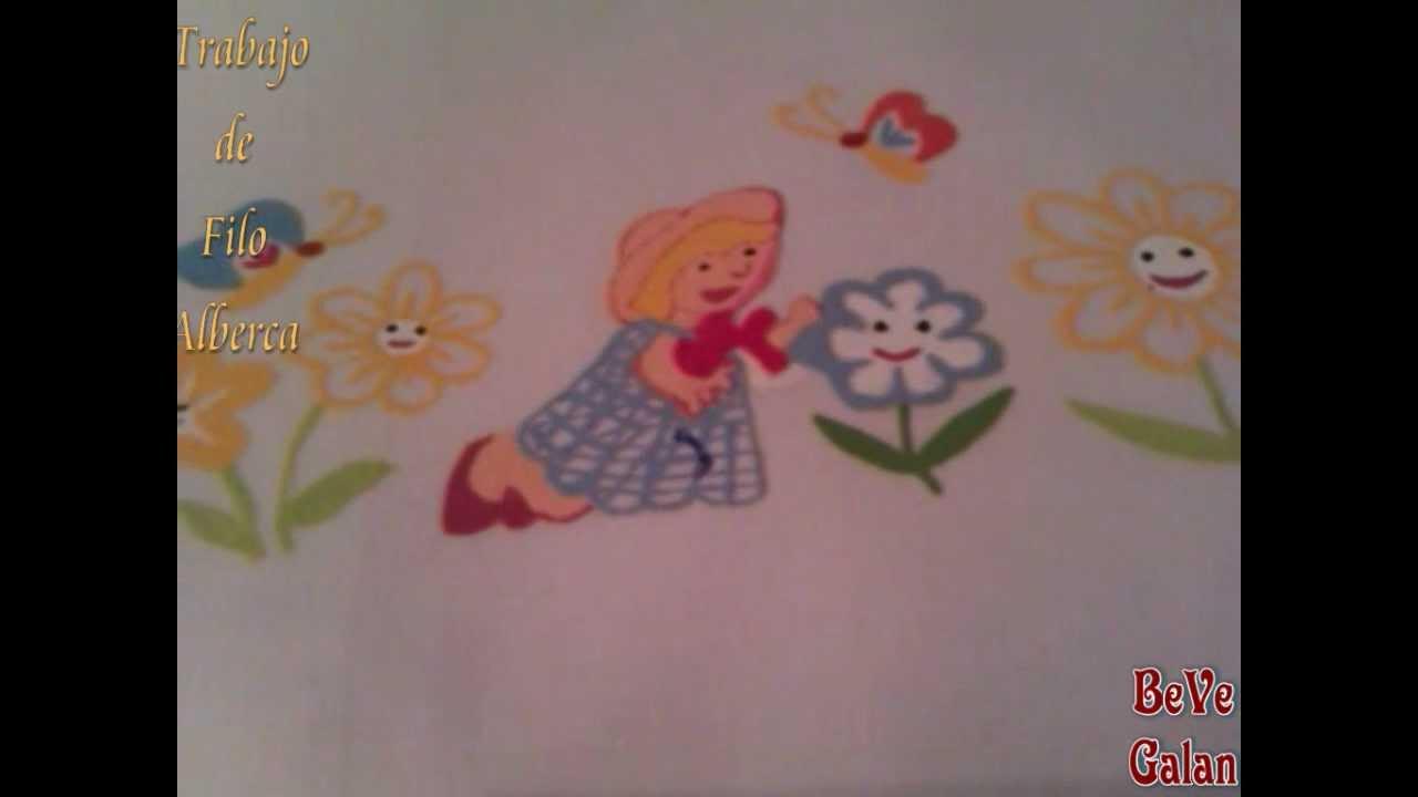 Pintura en tela sabana de cuna de bebe pintada bevegalan - Pintura en tela motivos navidenos ...