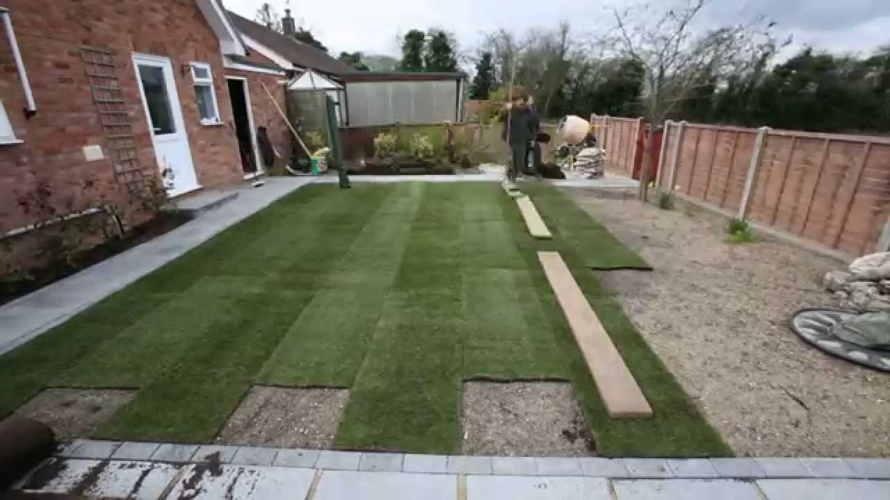 How To Landscape Your Back Garden Youtube