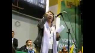 BOGOTÁ- QUINTO CONGRESO DE UNION PATRIOTICA UP. AIDA ABELLA INTERVIENE