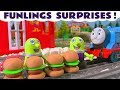 Funny Funlings cooking at the McDonalds Drive Thru Burger Surprise Toy Story with Thomas Train TT4U