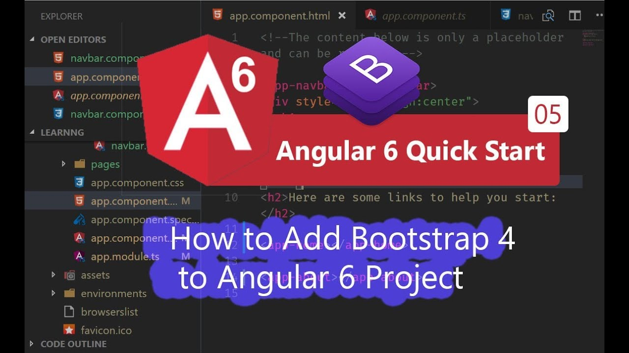 05 - How to Add Bootstrap 4 to Angular 6 Project