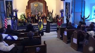 "Mt. Vernon's Angels of Praise ""African Medley"" by Tye Tribbett - Praise Dance"