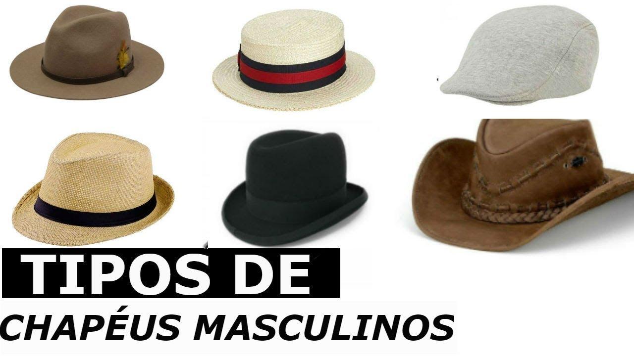 Conheça os Principais Tipos de Chapéus Masculinos - YouTube 036e39dcdac