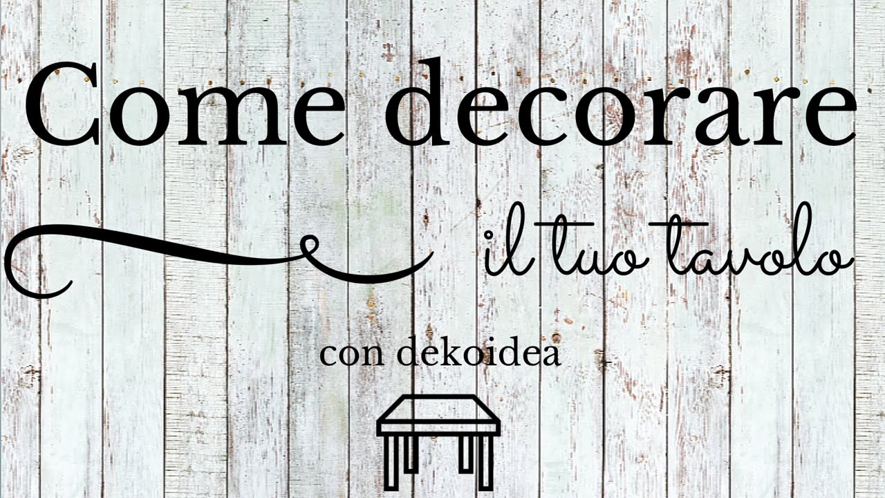 Decorazioni adesive per tavolo il tutorial youtube - Come decorare i muri di casa ...