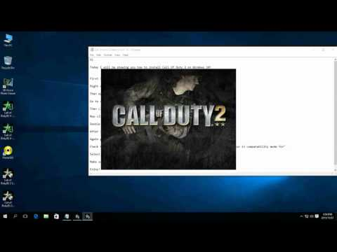How to install Call of Duty 2 on Windows 10! (Single Player Now Working!!)
