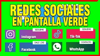 SOCIAL MEDIA - Pantalla Verde Redes Sociales GRATIS Green Screen Lowerthirds | JOEStream