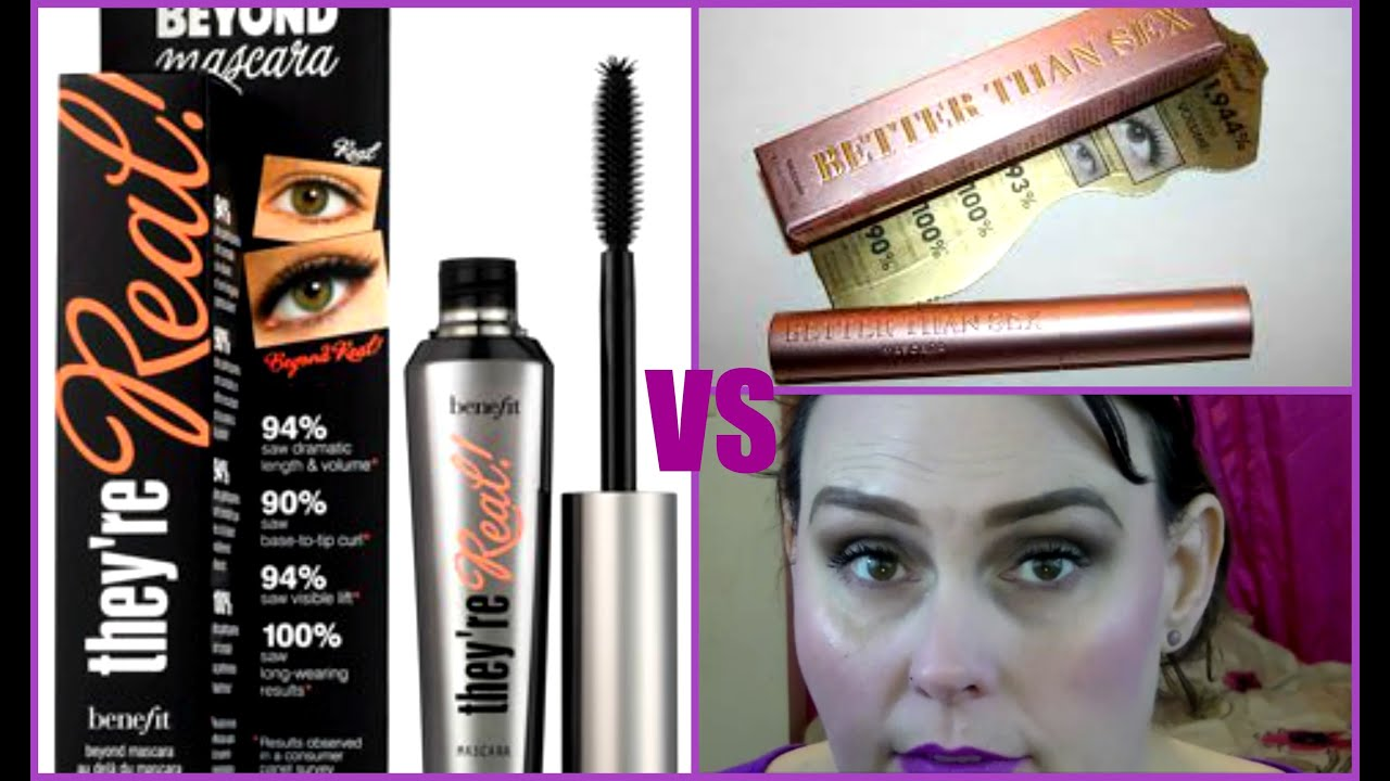 aedcebc501d Benefit They're Real VS Too Faced Better Than Sex Mascara Smack Down ...